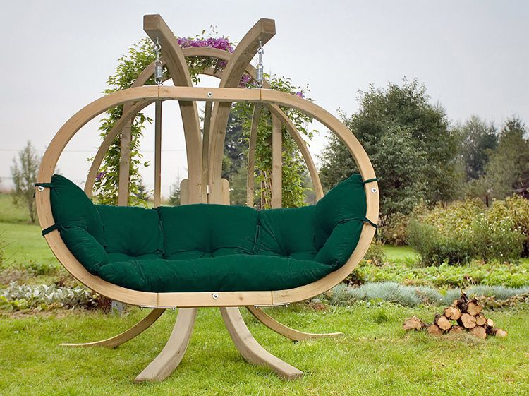 Hamac Chaise Avec Support Globo Royal Weatherproof Green