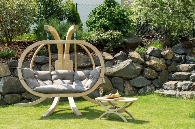 Hamac Chaise Avec Support 'Globo Royal' Taupe