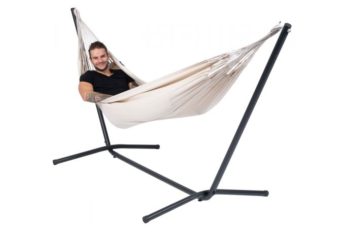 Hamac Avec Support 1 Personne 'Easy & Classic' White