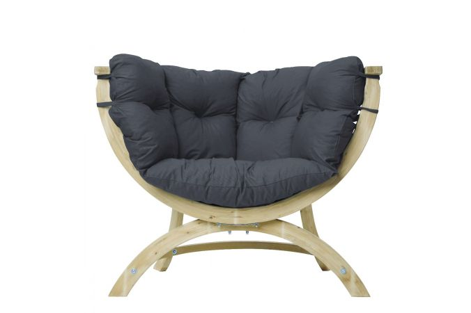 Fauteuil 'Siena' Anthracite