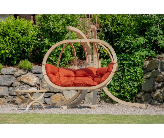 Hamac Chaise Avec Support 'Globo Royal' Terracotta