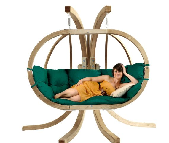 Hamac Chaise Avec Support 'Globo Royal' Green