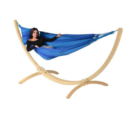 Hamac Avec Support 1 Personne 'Wood & Dream' Blue
