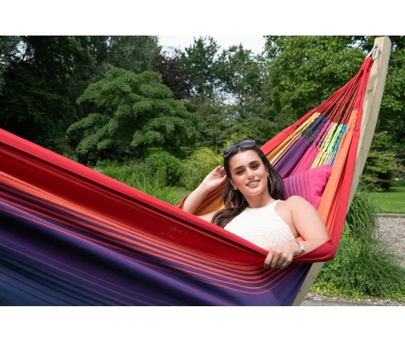 Hamac Avec Support Famille 'Wood & Refresh' Rainbow