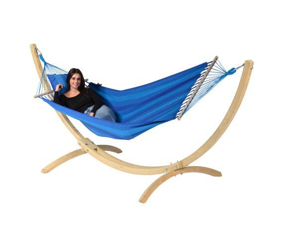 Hamac Avec Support 1 Personne 'Wood & Relax' Blue