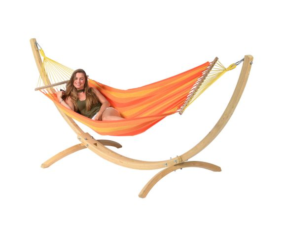 Hamac Avec Support 1 Personne 'Wood & Relax' Orange