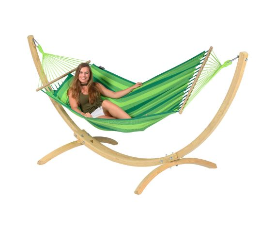 Hamac Avec Support 1 Personne 'Wood & Relax' Green